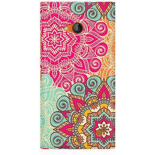 RAYITE Colourful Mandala Art Premium Printed Mobile Back Case Cover For Nokia Lumia 730