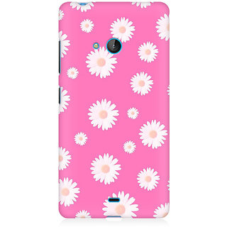 RAYITE Pink Daisy Pattern Premium Printed Mobile Back Case Cover For Nokia Lumia 540