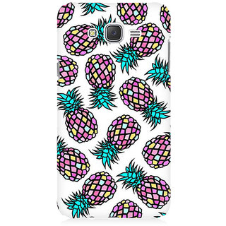 RAYITE Geometric Retro Pineapple Premium Printed Mobile Back Case Cover For Samsung J1 Ace