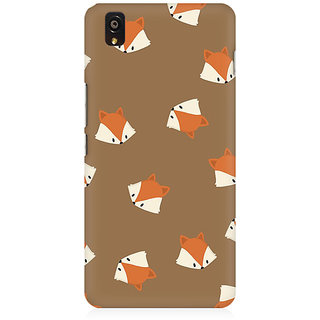 RAYITE Fox Head Pattern Premium Printed Mobile Back Case Cover For OnePlus X