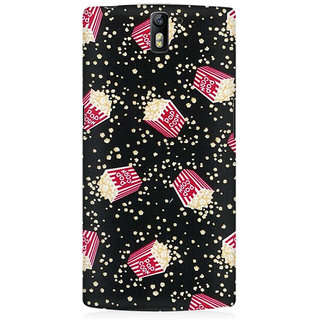 RAYITE Pop Corn Pattern Premium Printed Mobile Back Case Cover For OnePlus One