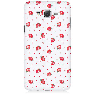 RAYITE Strawberry Hub Premium Printed Mobile Back Case Cover For Samsung J2