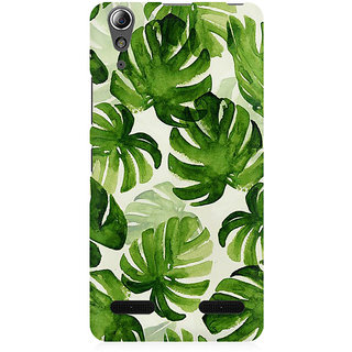 RAYITE Palm Leaf Premium Printed Mobile Back Case Cover For Lenovo A6000