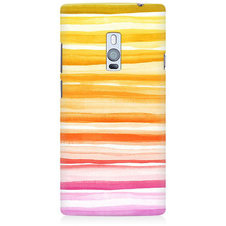 RAYITE Orange Pattern Premium Printed Mobile Back Case Cover For OnePlus Two