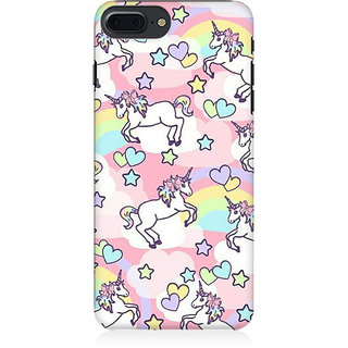 RAYITE Heart Unicorn Pattern Preum Printed Mobile Back Case Cover For   7 Plus