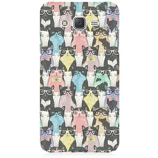 RAYITE Cool Cat Pattern Premium Printed Mobile Back Case Cover For Samsung J5