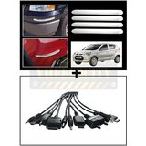 Vheelocity Chrome Car Bumper Safety Guard Protectors + Titoni 11 In 1 Universal Car Mobile Charger