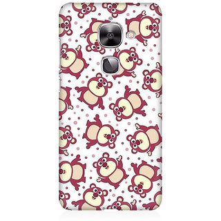 RAYITE Cute Pandas Pattern Premium Printed Mobile Back Case Cover For LeEco Le 2