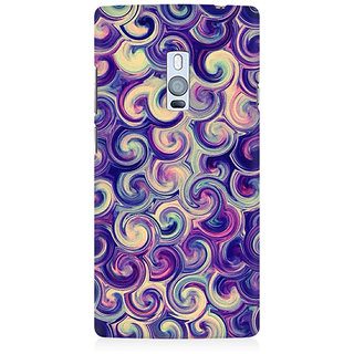 RAYITE Watercolor Waves Premium Printed Mobile Back Case Cover For OnePlus Two