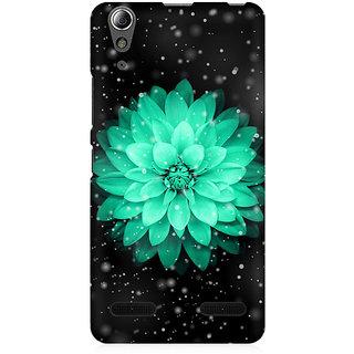 RAYITE Flower Glitter Print Premium Printed Mobile Back Case Cover For Lenovo A6000