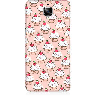 RAYITE Cakes Pattern Premium Printed Mobile Back Case Cover For OnePlus Three