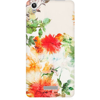 RAYITE Watercolor Flower Premium Printed Mobile Back Case Cover For Lava Pixel V1