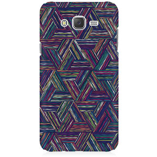 RAYITE Geometric Cross Art Premium Printed Mobile Back Case Cover For Samsung J5