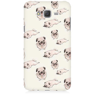 RAYITE Pug Pattern Premium Printed Mobile Back Case Cover For Samsung J1 Ace