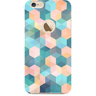 RAYITE Hexagon Pattern Preum Printed Mobile Back Case Cover For   6-6s With  Hole