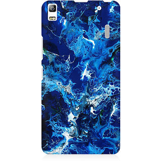 RAYITE Blue Watercolor Premium Printed Mobile Back Case Cover For Lenovo K3 Note