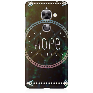 RAYITE Hope Premium Printed Mobile Back Case Cover For LeEco Le 2
