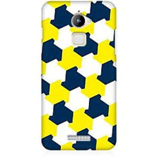RAYITE Yellow Blue Geometric Premium Printed Mobile Back Case Cover For Coolpad Note 3 Lite