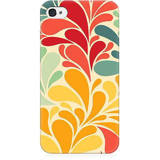 RAYITE Colourful Watercolor Splash Preum Printed Mobile Back Case Cover For   4/4s