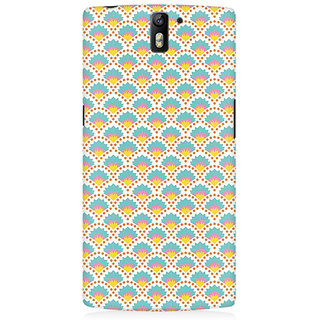 RAYITE Colourful Shell Pattern Premium Printed Mobile Back Case Cover For OnePlus One