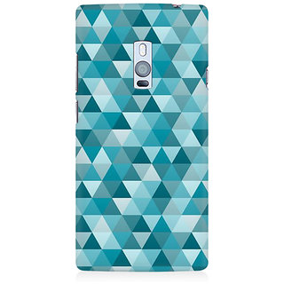 RAYITE Geometric Art Premium Printed Mobile Back Case Cover For OnePlus Two