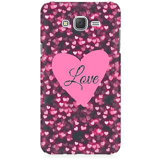 RAYITE Hearts And Love Premium Printed Mobile Back Case Cover For Samsung J2