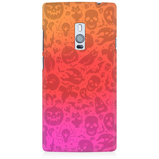 RAYITE Watercolor Ghost Pattern Premium Printed Mobile Back Case Cover For OnePlus Two