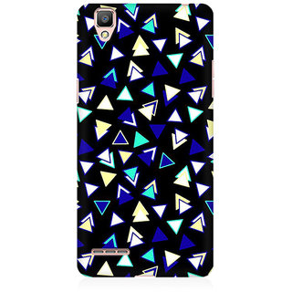 RAYITE Little Triangles Pattern Premium Printed Mobile Back Case Cover For Oppo A35