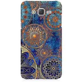 RAYITE Geometric Bohemian Premium Printed Mobile Back Case Cover For Samsung J5