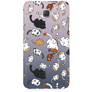 RAYITE Cat Fall Pattern Premium Printed Mobile Back Case Cover For Samsung J5 2016 Version