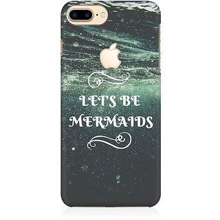 RAYITE Lets Be Mermaids Preum Printed Mobile Back Case Cover For   7 Plus  Logo Cut