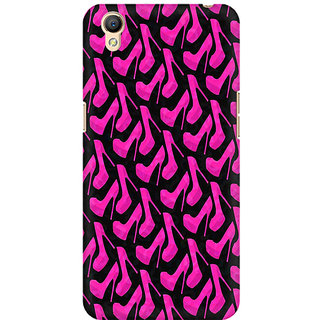RAYITE Pink Heels Pattern Premium Printed Mobile Back Case Cover For Oppo A37