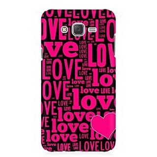 RAYITE Love Pattern Premium Printed Mobile Back Case Cover For Samsung J3
