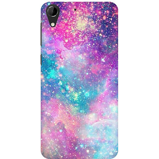 RAYITE Galaxy Print Premium Printed Mobile Back Case Cover For HTC Desire 728