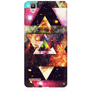 RAYITE Galaxy Art Premium Printed Mobile Back Case Cover For Oppo A35