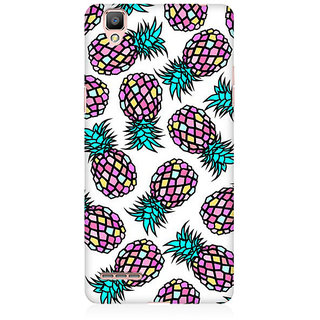 RAYITE Geometric Retro Pineapple Premium Printed Mobile Back Case Cover For Oppo A35