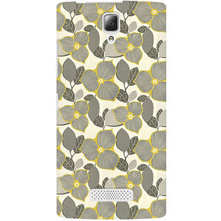 RAYITE Gold Floral Premium Printed Mobile Back Case Cover For Lenovo A2010