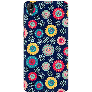 RAYITE Cute Flower Print Premium Printed Mobile Back Case Cover For HTC Desire 728