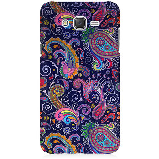 RAYITE Blue Embroidery Premium Printed Mobile Back Case Cover For Samsung J1 Ace