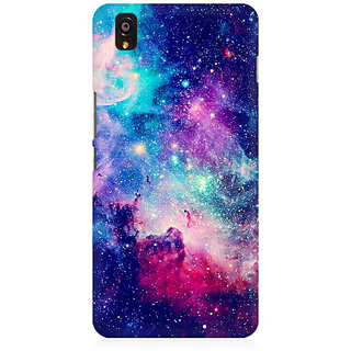 RAYITE Blue Galaxy Hub Premium Printed Mobile Back Case Cover For OnePlus X