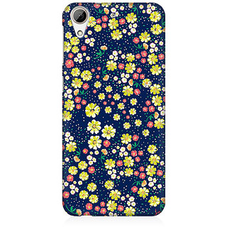 RAYITE Flower Hub Pattern Premium Printed Mobile Back Case Cover For HTC Desire 626