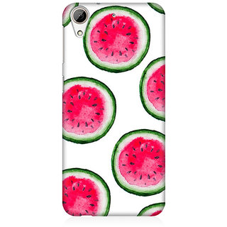 RAYITE Watercolor Watermelon Pattern Premium Printed Mobile Back Case Cover For HTC Desire 626