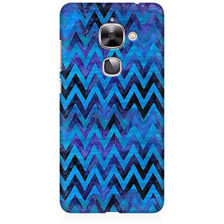 RAYITE Blue Chevron Pattern Premium Printed Mobile Back Case Cover For LeEco Le 2