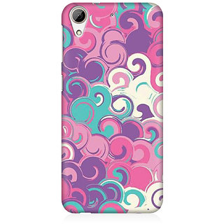 RAYITE Colourful Waves Premium Printed Mobile Back Case Cover For HTC Desire 626