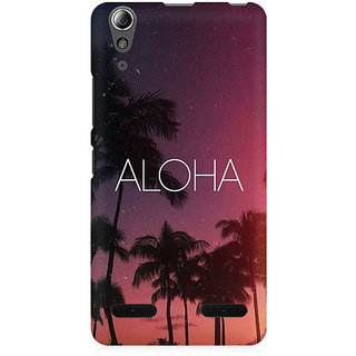 RAYITE Aloha Premium Printed Mobile Back Case Cover For Lenovo A6000