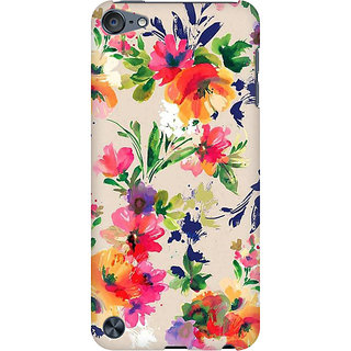 RAYITE Watercolor Floral Preum Printed Mobile Back Case Cover For  IPod Touch 5