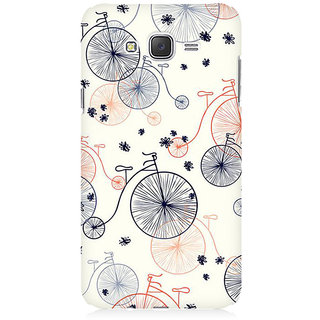 RAYITE Bicycle Pattern Premium Printed Mobile Back Case Cover For Samsung J2