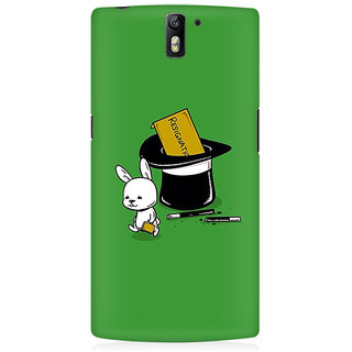 RAYITE Resignation By Rabbit Premium Printed Mobile Back Case Cover For OnePlus One