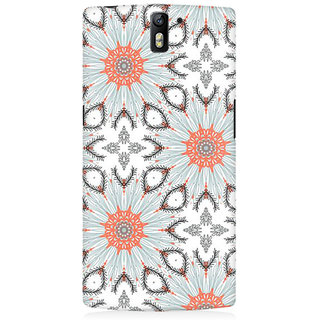 RAYITE Floral Abstract Premium Printed Mobile Back Case Cover For OnePlus One