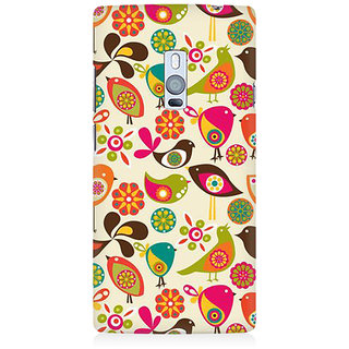 RAYITE Birds Pattern Premium Printed Mobile Back Case Cover For OnePlus Two